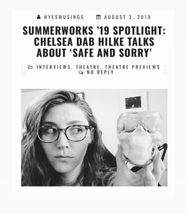 Check out @hyemusings interview with Safe and Sorry director Chelsea Dab Hilke.  Opening August 9th at 9:45pm  at The Theatre Centre!! • • • • #safe_and_sorry #summerworksto #theato #art #film #festival #thesix