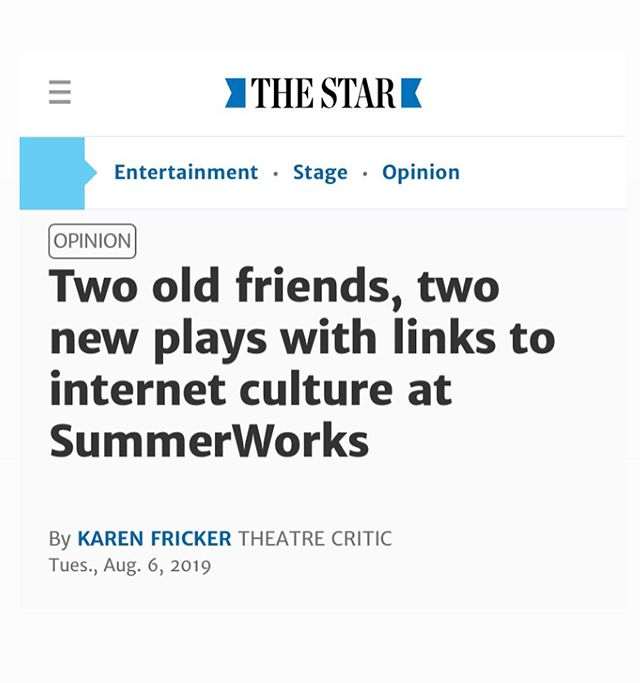 Safe and Sorry alongside @cdtps_uoft alumni @presgang show White Heat in the @thetorontostar !!! • • Read the full article : www.thestar.com • • • Happy opening to White Heat • Only two more chances to check out #safe_and_sorry • Aug.13, 7:45pm and  Aug.16, 5pm • #summerworksto #theato #indietheatre #ucdp4evr #theatre #toronto