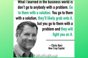 Eat for the Planet Podcast: How Chris Kerr and Chuck Laue Kick-Started Humane Investing and Helped Transform the Food Industry . This episode dives into the early beginnings of humane investing, nearly 10 years ago and shares insights on the current state of the plant-based and cell-based foods industry, advice for entrepreneurs looking to raise investment, the M&A outlook for the near future, predictions for the segment in the decade ahead, and a whole lot more.   Listen to the episode here!