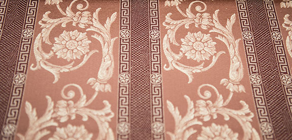 "VENICE  28/RUST                57%COTTON/43%POLY  UPHOLSTERY,DECORATION,   108"" WIDE             WASHABLE  TABLECLOTH                        MADE IN ITALY"