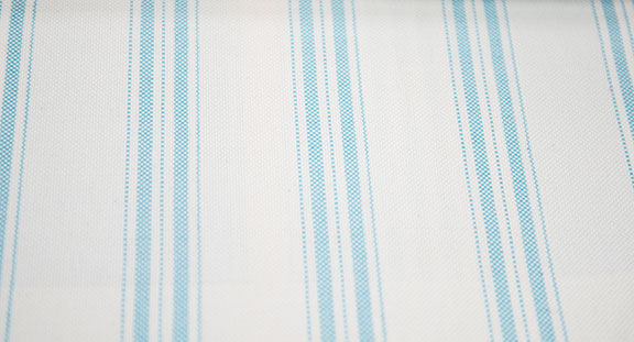 "PACIFIC 22/SKY        60%COTTON/ 40%POLY                                           108""/54"" WIDE             WASHABLE                                            MADE IN ITALY  CURTAIN,  TABLECLOTH,  BED COVER,   UPHOLSTERY"