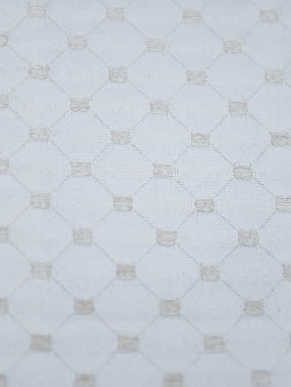 "SALICE   17/WHITE         65%/COTTON 35%/POLY  UPHOLSTERY                          54"" WIDE                                                MADE IN ITALY"