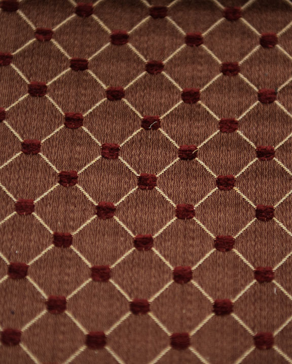 "SALICE  24/RUST       65%/COTTON 35%/POLY  UPHOLSTERY                          54"" WIDE                                                MADE IN ITALY"