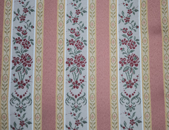 "LESSIRE   SALMON        100% POLYESTER                                           108"" WIDE - WASHABLE                                          DECORATION & DRAPERY                                                   MADE IN ITALY"