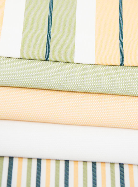 "SUN MINT/GOLD   100% ACRILIC    54"" WIDE  -OUTDOOR FABRICS  MADE IN ITALY"