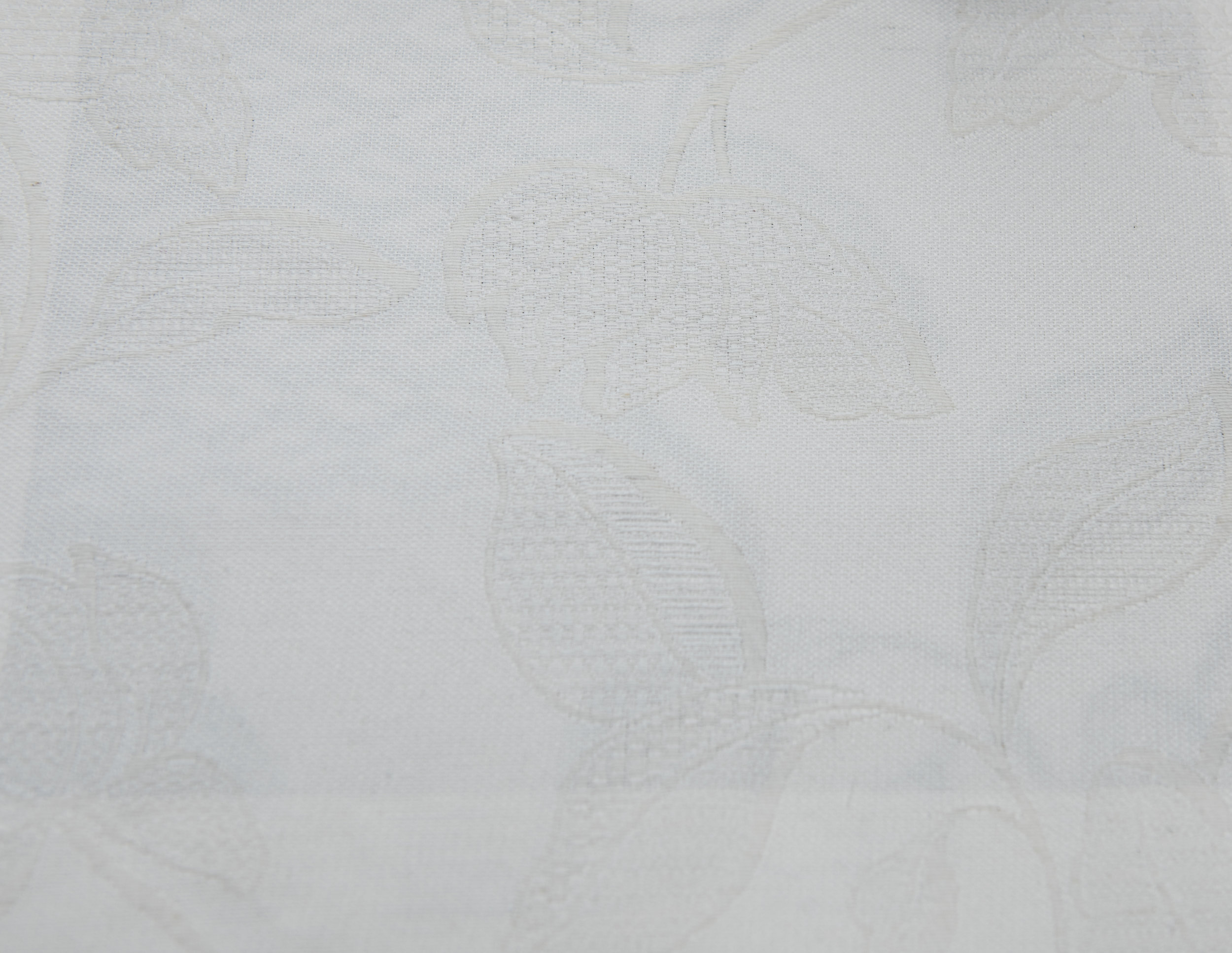 """GLAMOUR IVORY 60%COTTON/40% POLY  108"""" WIDE WASHABLE  MADE IN ITALY  TABLECLOTH,BED COVER, CURTAIN ,UPHOLSTERY"""