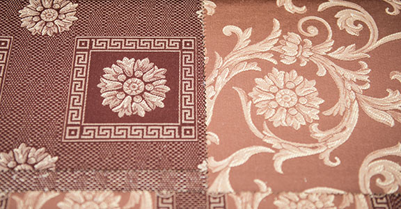 "VENICE     RUST     55%COTTON 45% POLY  108"" WIDE                    WASHABLE  MADE IN ITALY  SOFA,  TABLECLOTH, DRAPERY  , SLEEPCOVER & DECO"