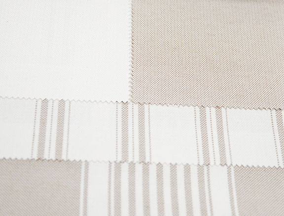 "PACIFIC BEIGE      60% COTTON/ 40% POLY  108"" OR 54"" WIDE          WASHABLE  MADE IN ITALY  CURTAIN, TABLECLOTH, BED COVER AND DRAPERY"