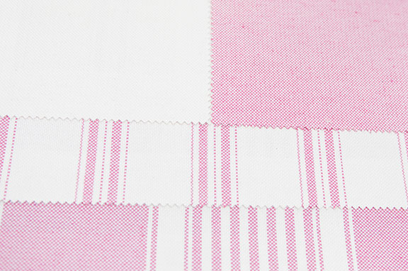 "PACIFIC PINK     60% COTTON/ 40% POLY  108"" OR 54"" WIDE          WASHABLE  MADE IN ITALY  CURTAIN, TABLECLOTH, BED COVER AND DRAPERY"