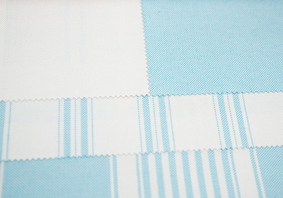 "PACIFIC SKY       60% COTTON/ 40% POLY  108"" OR 54"" WIDE          WASHABLE  MADE IN ITALY  CURTAIN, TABLECLOTH, BED COVER AND DRAPERY"