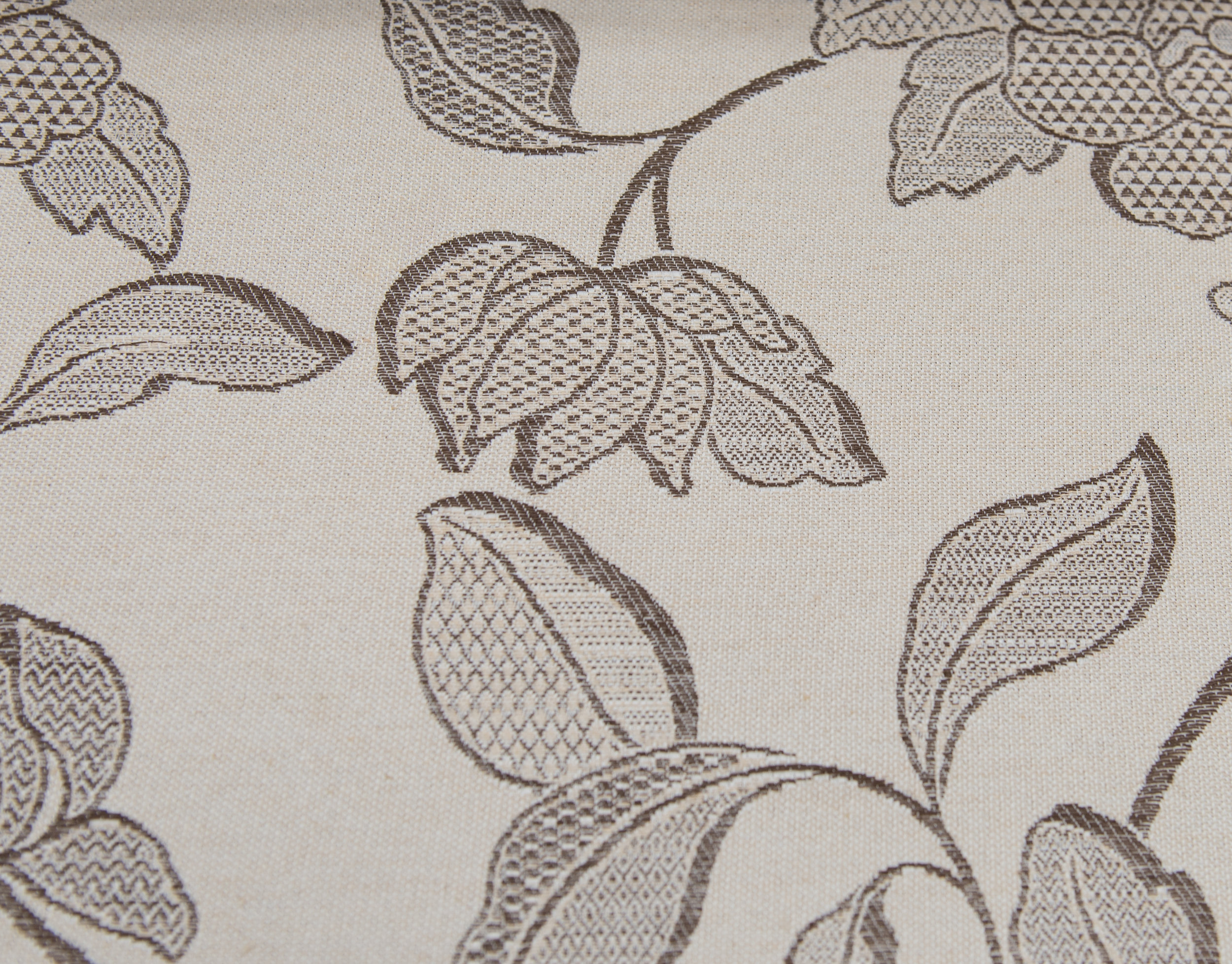 """PACIFIC  BEIGE FLORAL  60%COTTON / 40% POLY  108"""" WIDE   WASHABLE  TABLECLOTH, SLIPCOVER,CURTAIN  MADE IN ITALY          PRICE-   WAS $24    NOW  $8.50 PER YARD."""