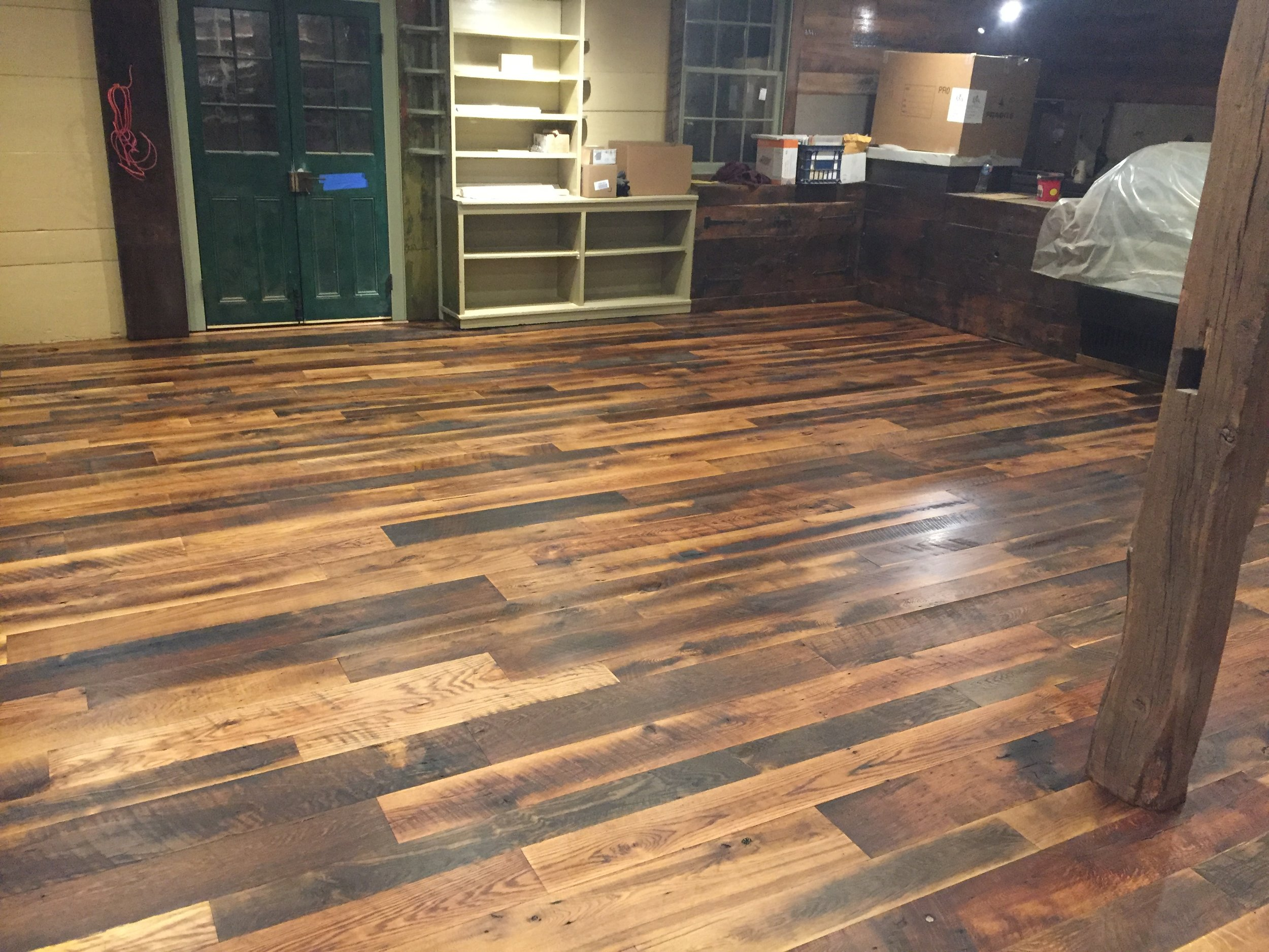 terri feralio - custom wood floor after stain.JPG