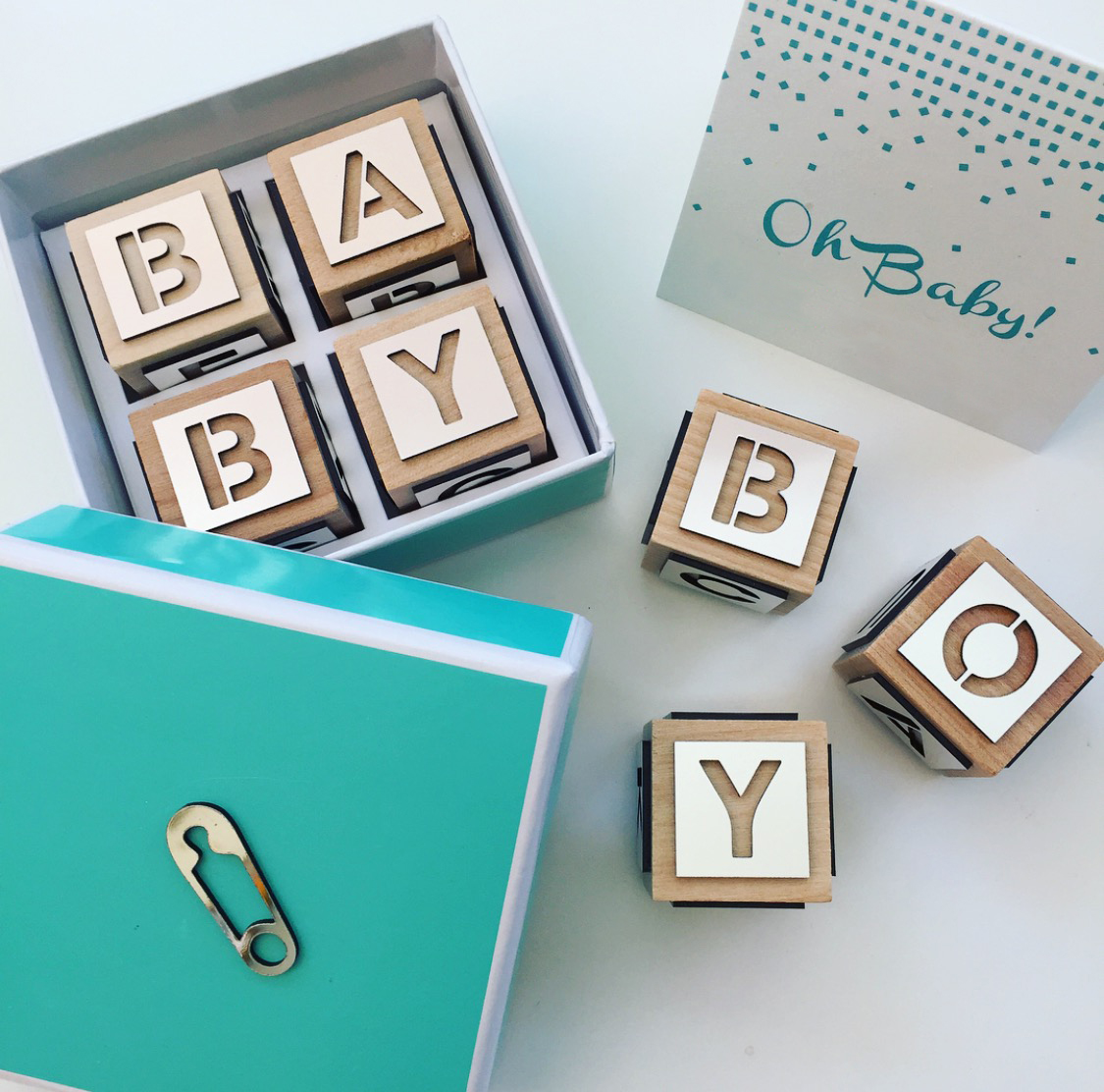 Baby Boy  \\ The building blocks of starting a family! Created these cuties for a baby shower this weekend in Canada. Oh baby, we had so much fun.