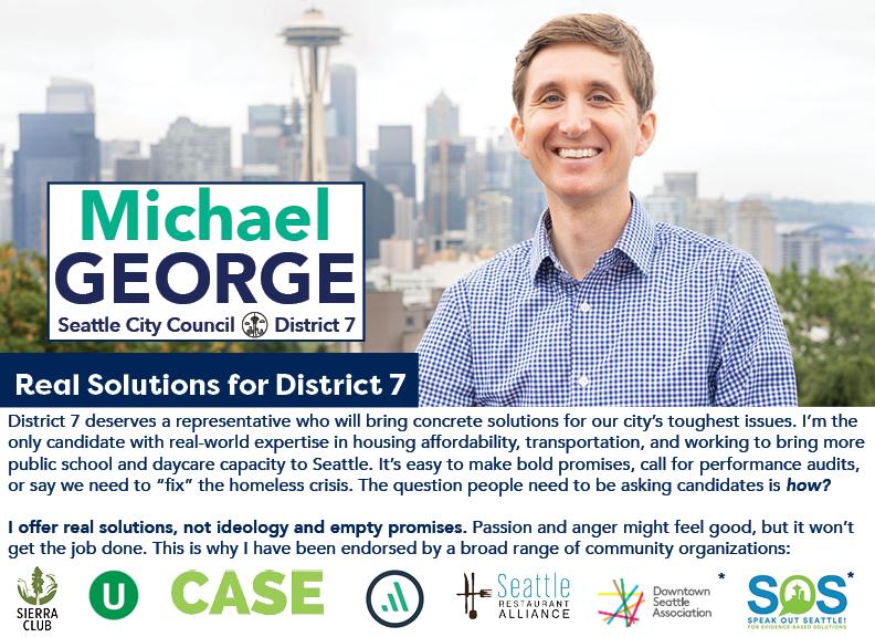 Michael George for Seattle City Council, D7