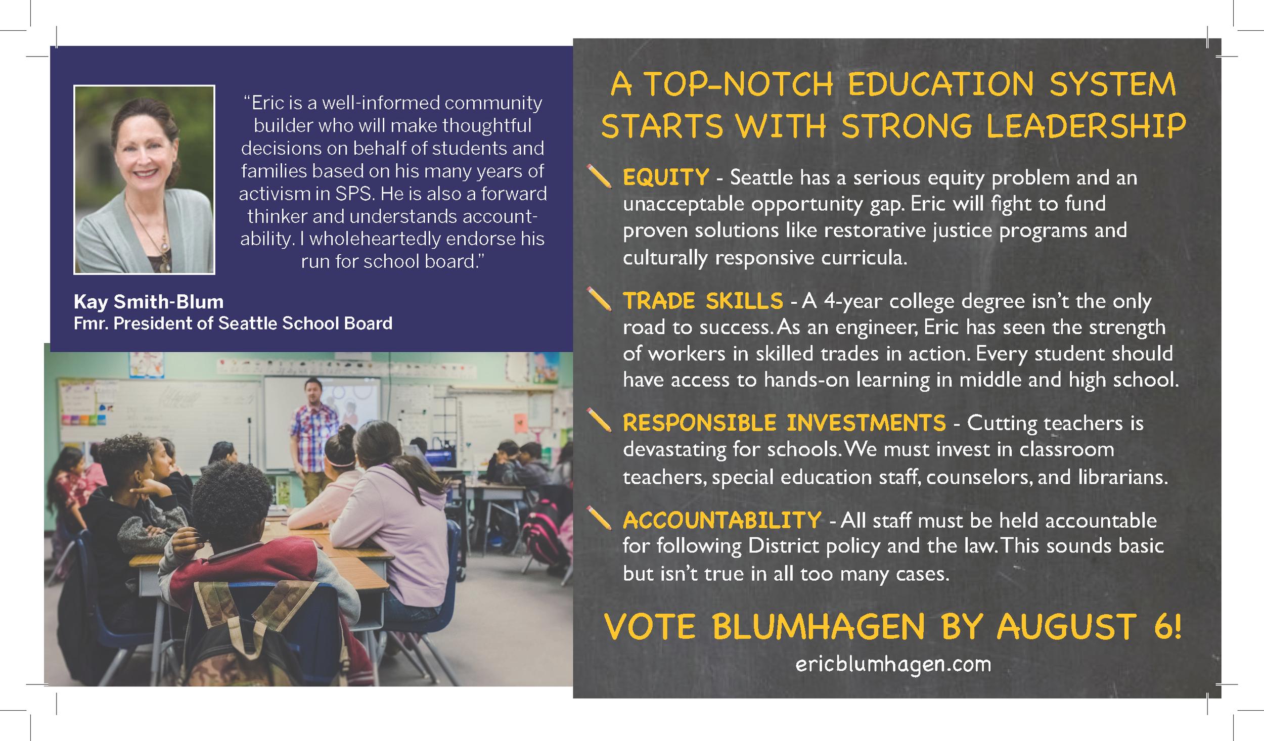 Eric Blumhagen for Seattle School Board