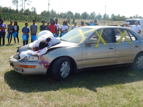 #1is2Many Teen Maze car accident scene