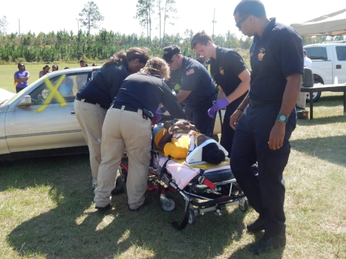 Gold Cross EMS at the #1is2Many Teen Maze accident scene made the scene very realistic