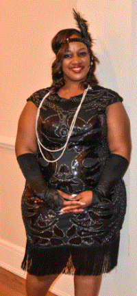 APC Staff member Shunte was dressed in her best 1920's themed outfit!