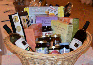 Trader Joe's of Columbia, SC. donated this basket for the Silent Auction, complete with Trader Joe's crackers, jams, and wines.