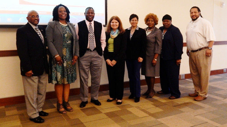 Members of the 2017 APC Board of Trustees with Executive Director Candice Hillman at the February 2017 Membership Council Meeting.