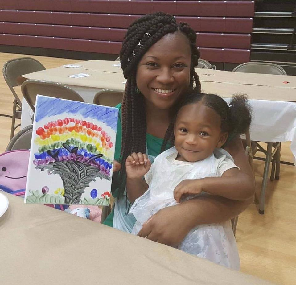 Participants having fun during the 2018 Children's Week Mommy & Me event.