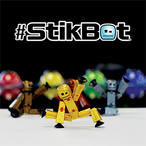 Stikbot   CREATE, ANIMATE AND SHARE your very own movies with Stikbot!  Download the free mobile app (Stikbot Studios available on iOS and Android) and kids can shoot their own stop-motion movies featuring Stikbot as the star and then share their movies with the online #stikbot community.