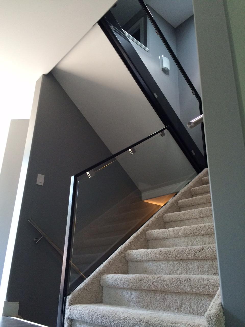 Custom frame glass  stair railing 3.JPG