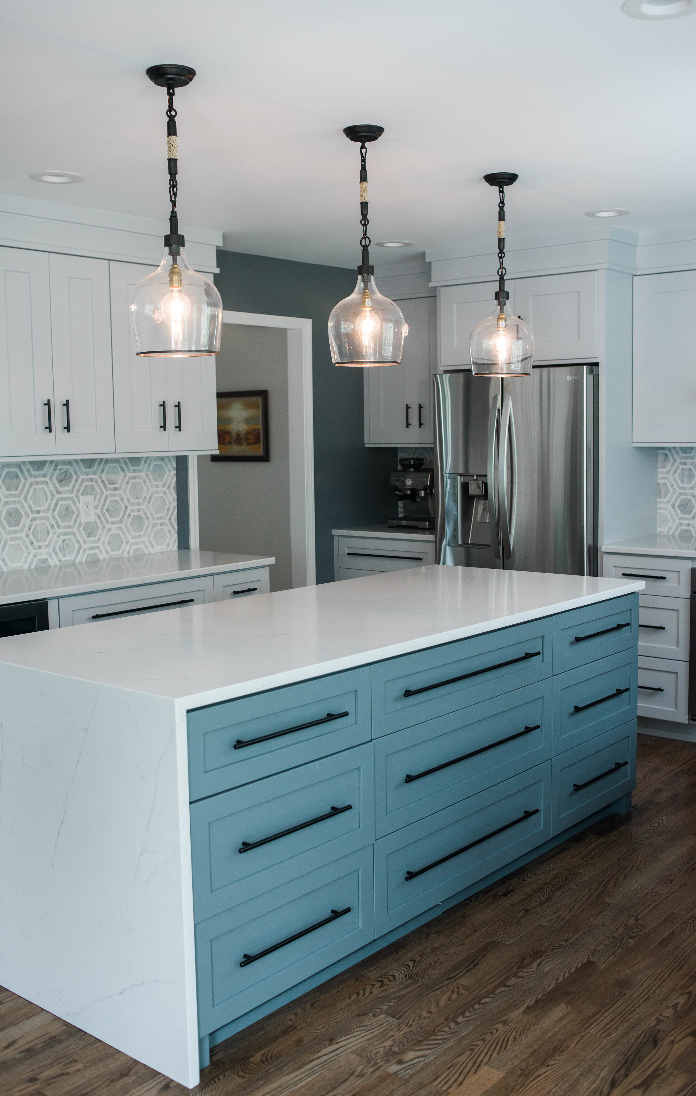 blue-cabinets-black-hardware