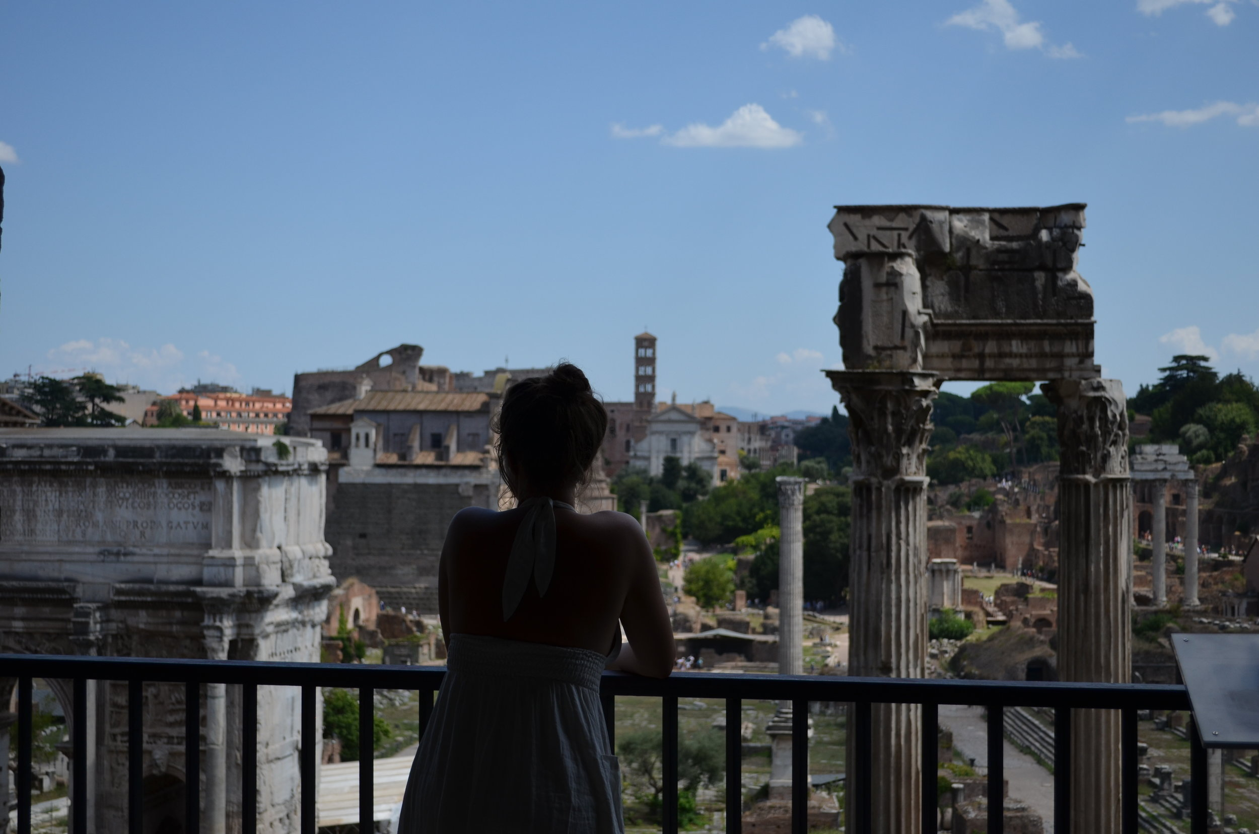 Looking out over the Forum. One of my favorite views we encountered in the city. In the Capitoline