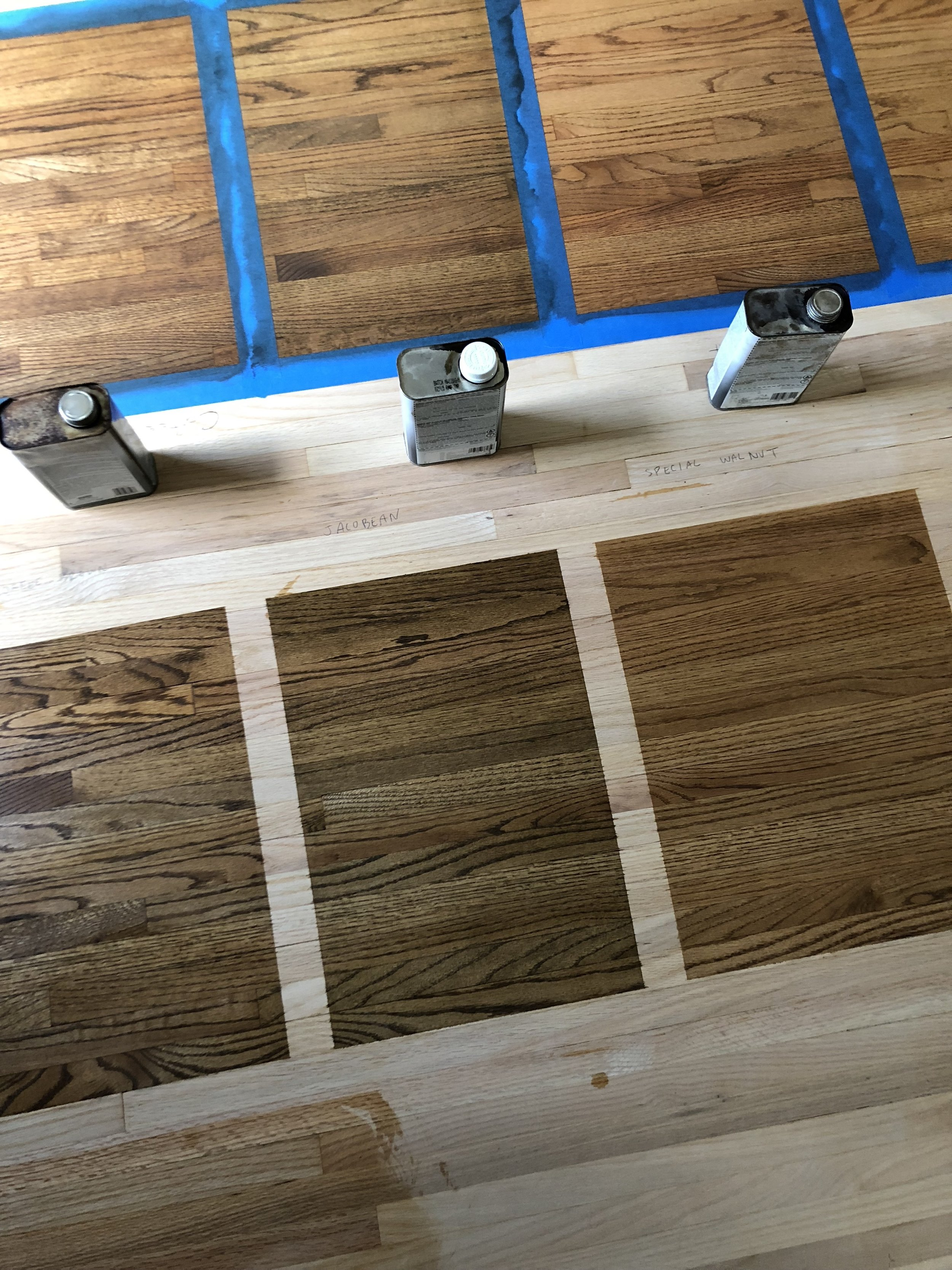 Wood stain selections. So important!