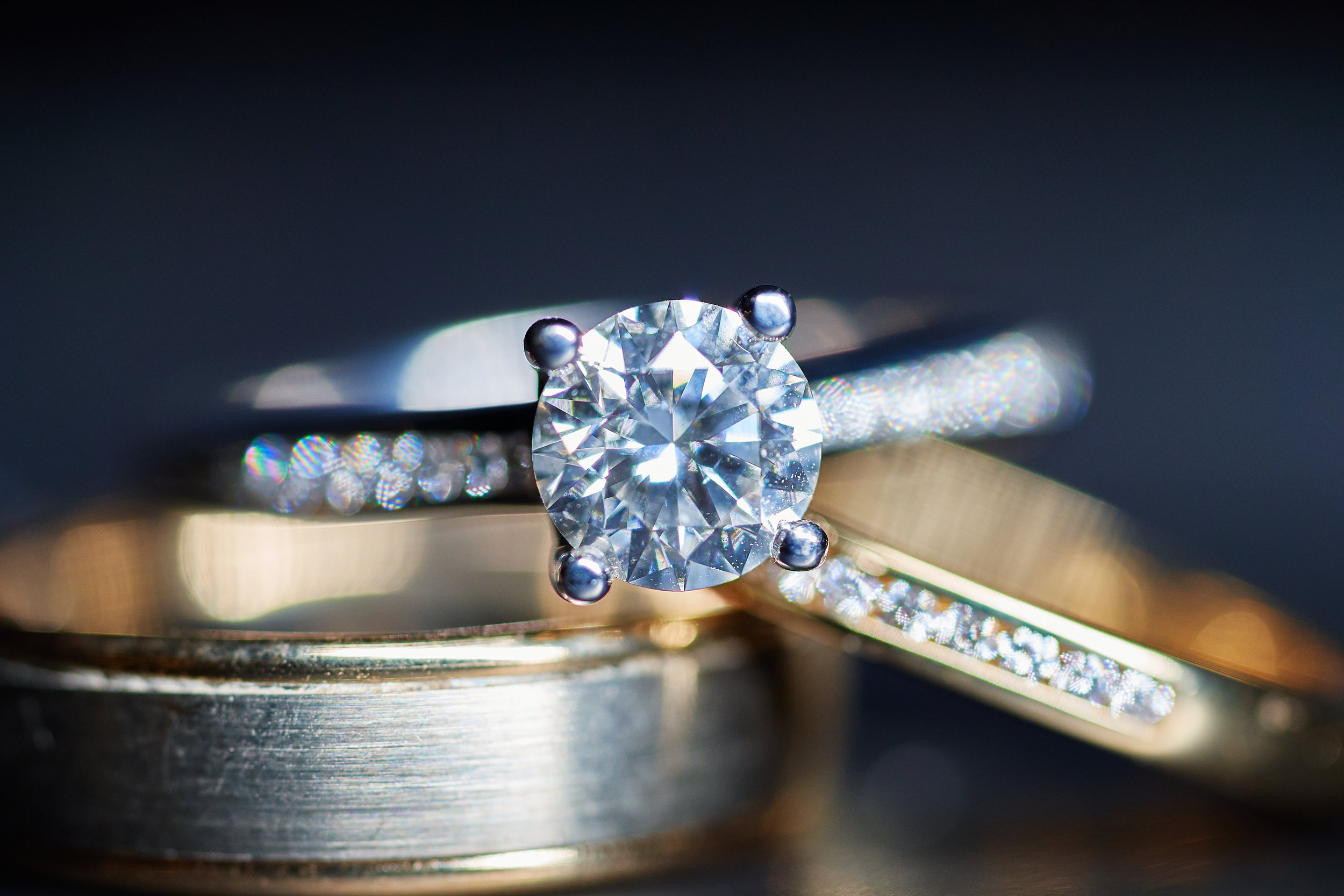 The obligatory macro shot of the Bride and Groom's rings! [Sony A7III 90mm 2.8 Macro]