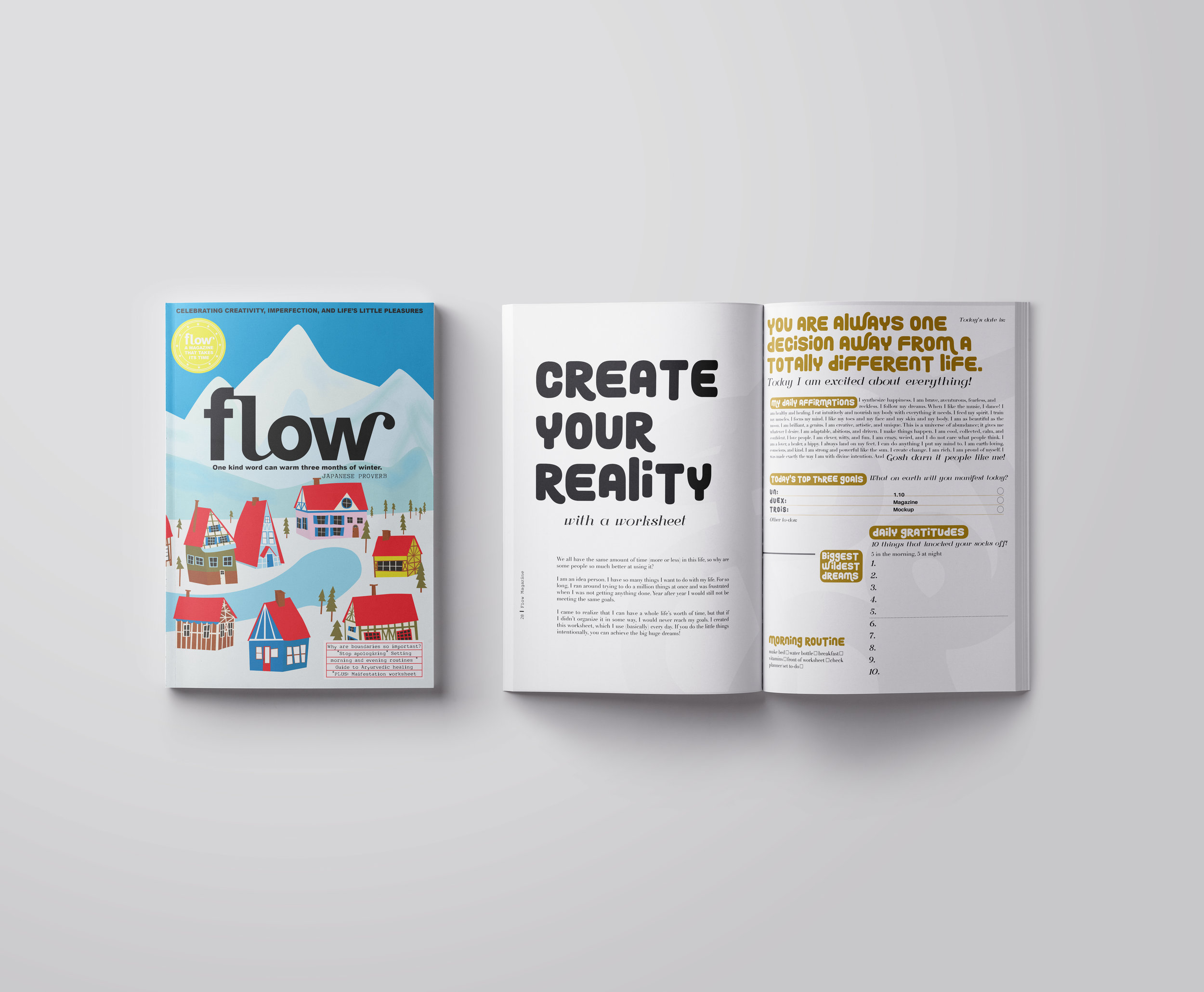 Flow Winter Edition | Editorial Design | 2018