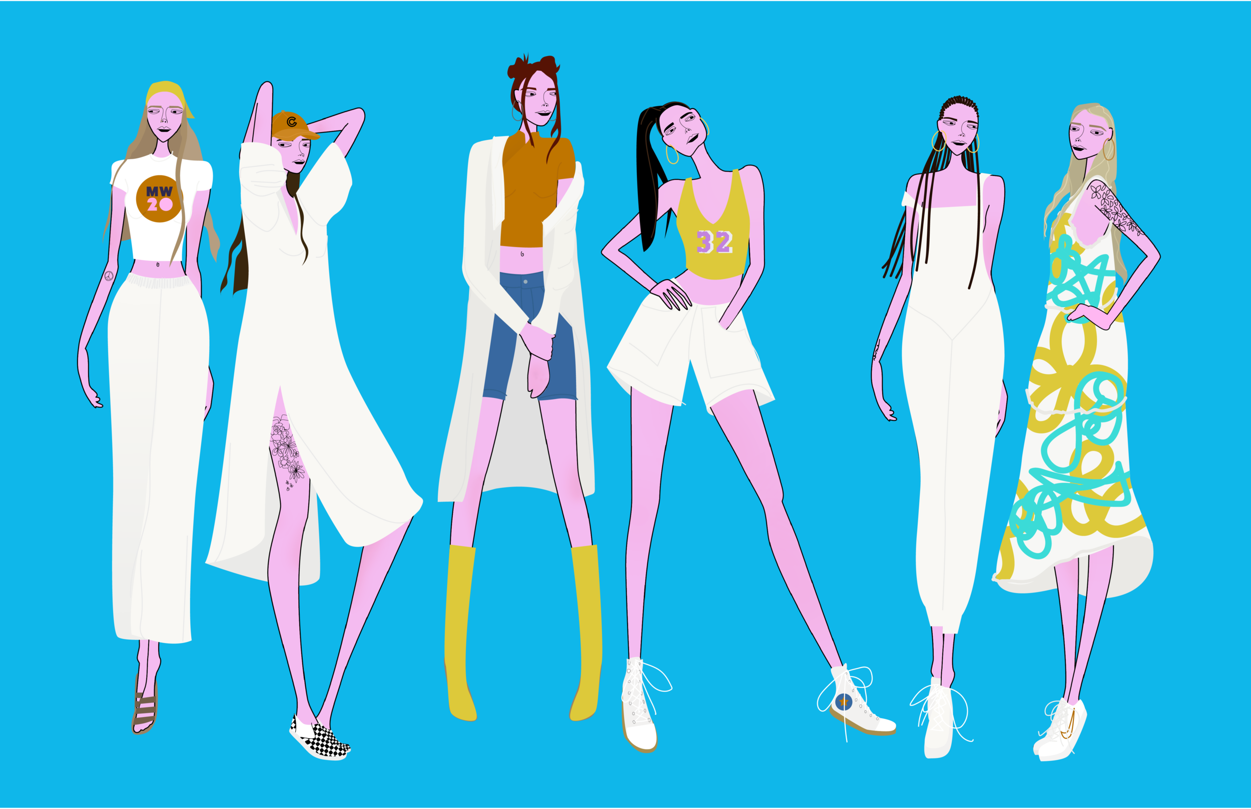 Boho Street Fashion Line | Illustration | 2019