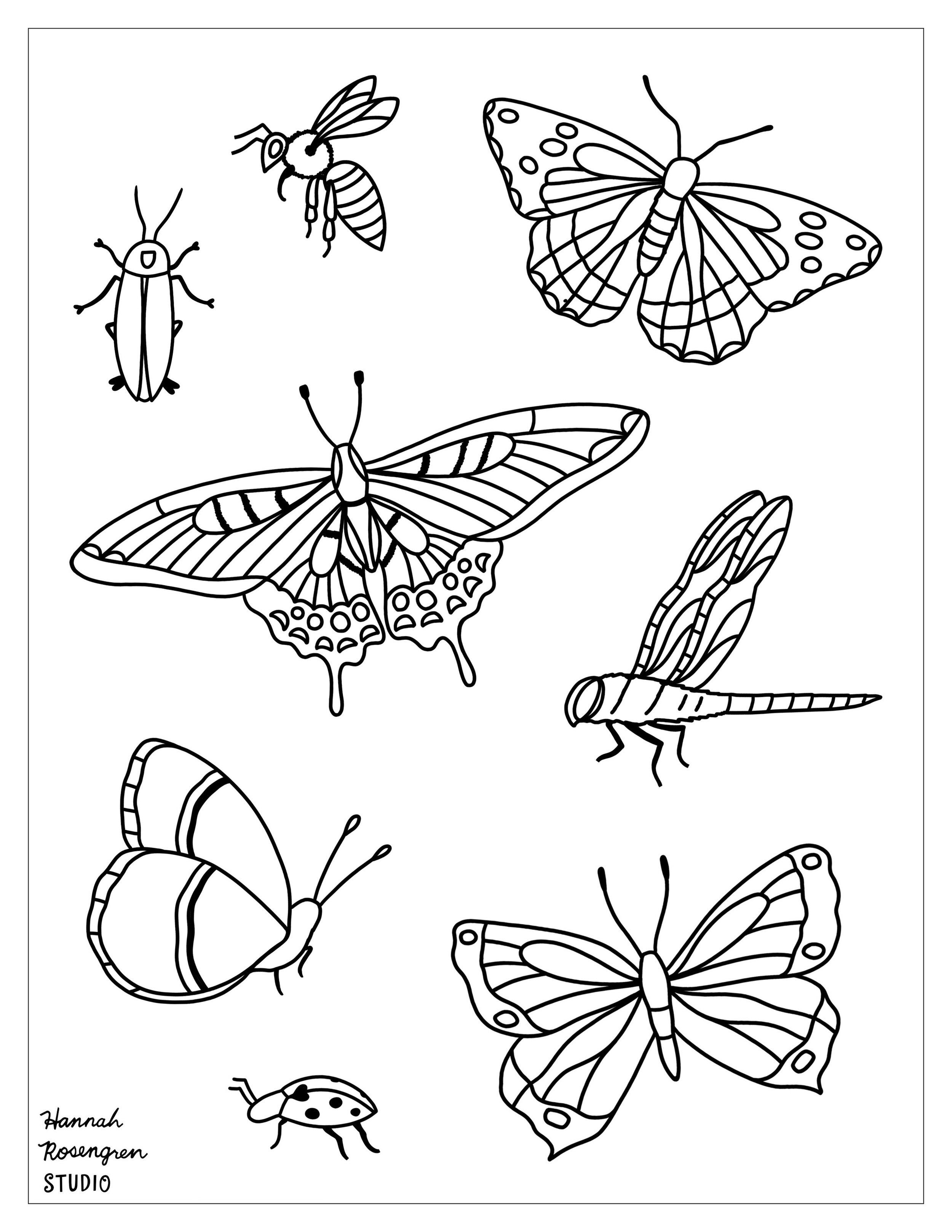 Printable Coloring Pages Hannah Rosengren Studio