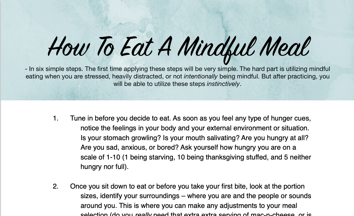 How to eat a mindful meal