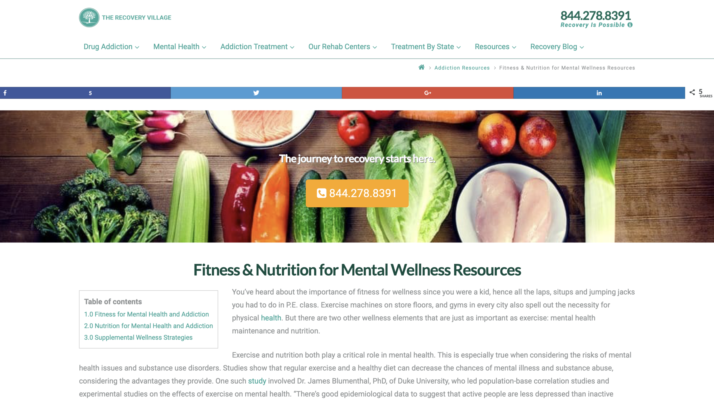 Fitness & Nutrition Resources for Addiction , via @ The Recovery Village