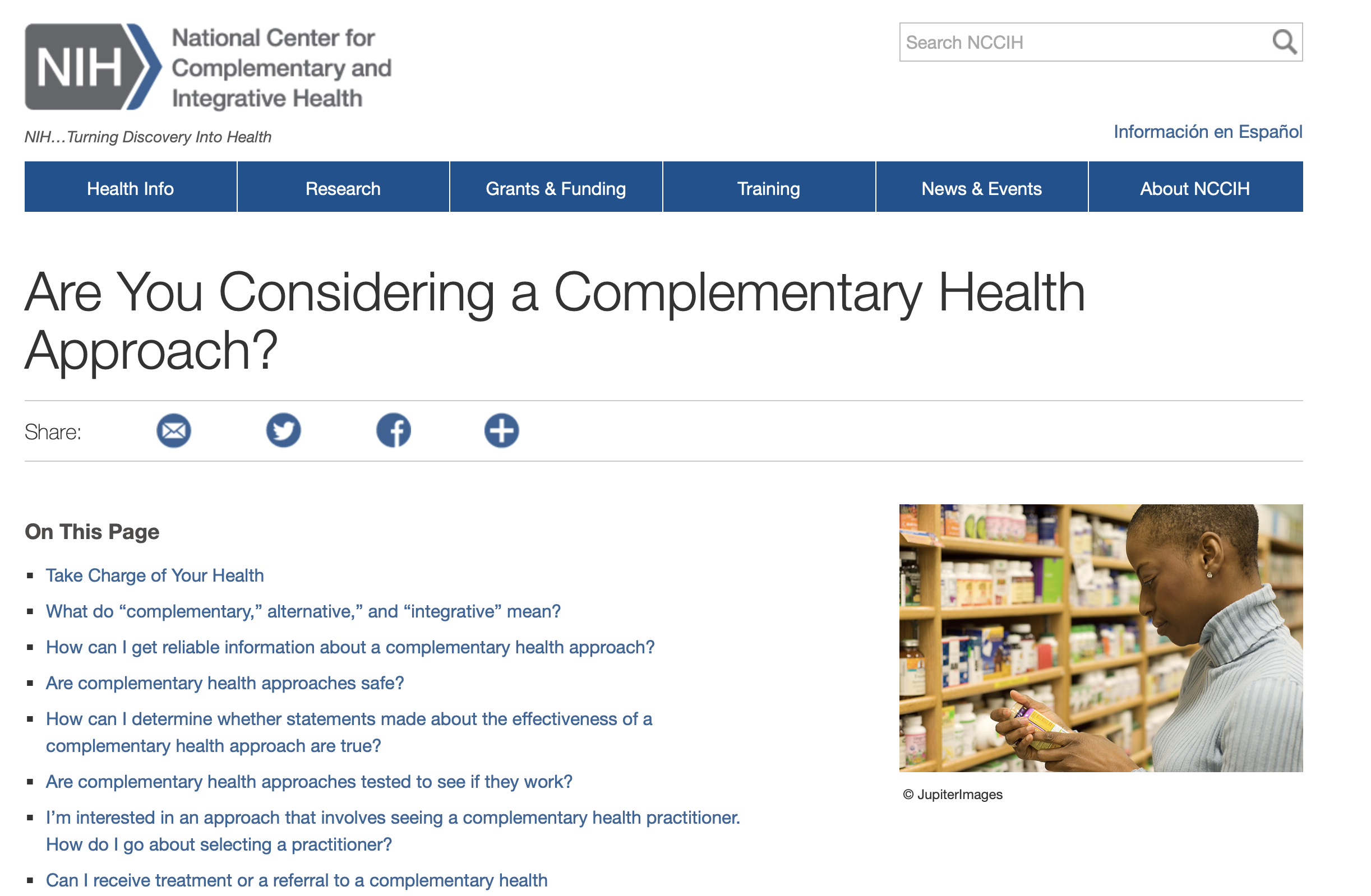 Are you Considering a Complimentary Health Approach?  via @ the NIH