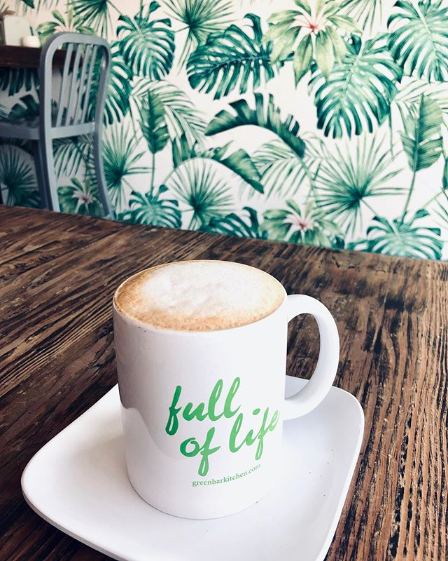 Once in a while I will have coffee mid-day .. today is one of those days. ☕️ @greenbarkitchen  #greenbar #greenbarandkitchen #veganrestaurant #vegan #foodie #coffee #coffeelover