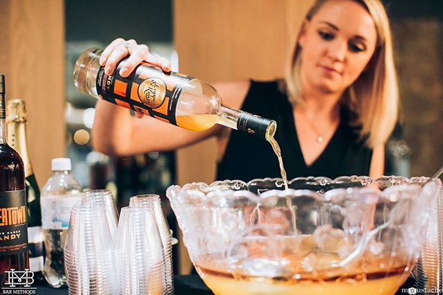 #BarMethods @copperandkings lunch. @kateisalady making some delicious punch. #punch #cocktail #cocktails #drinks #bar #nyc #education #mixology  Photo cred @iammoustache