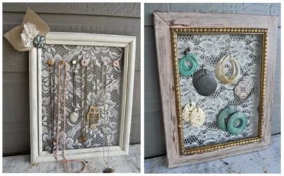 These are as  simple to make  as they are functional. Grab an old picture frame, a staple gun, and some mesh, chicken wire, or lace. Staple the material of your choice so it's taught to the back of the frame, and voila!