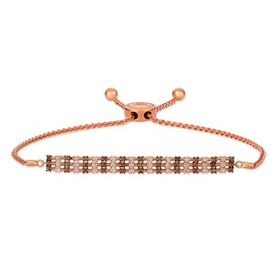 Le Vian Chocolate Diamonds - 14K Strawberry Gold® Bolo Bracelet with Chocolate Diamonds® 3/4 cts., Nude Diamonds™ 3/4 cts.