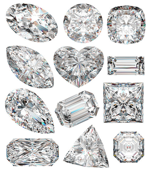 Diamond shapes.