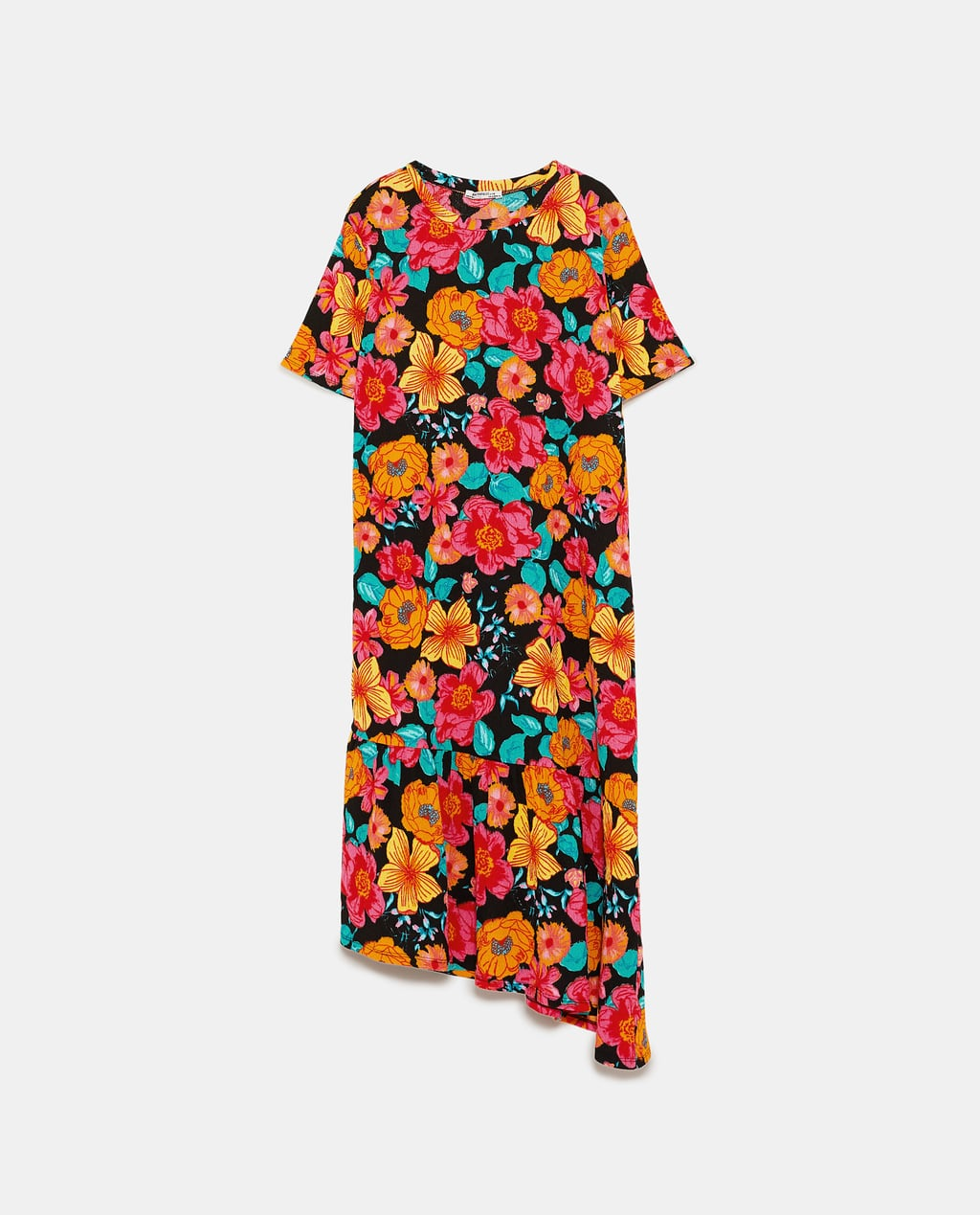 - TEXTURED DRESS WITH RUFFLED HEMDETAILS17.99 CAD