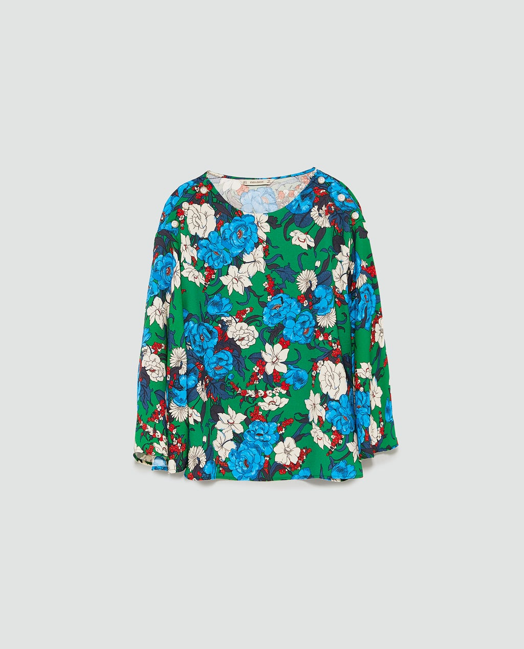 - PRINTED TOP WITH PEARL BEADS