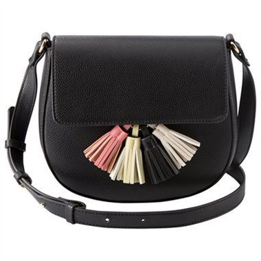- SADDLE CROSSBODY BAG - BLACK & MULTI$34.50