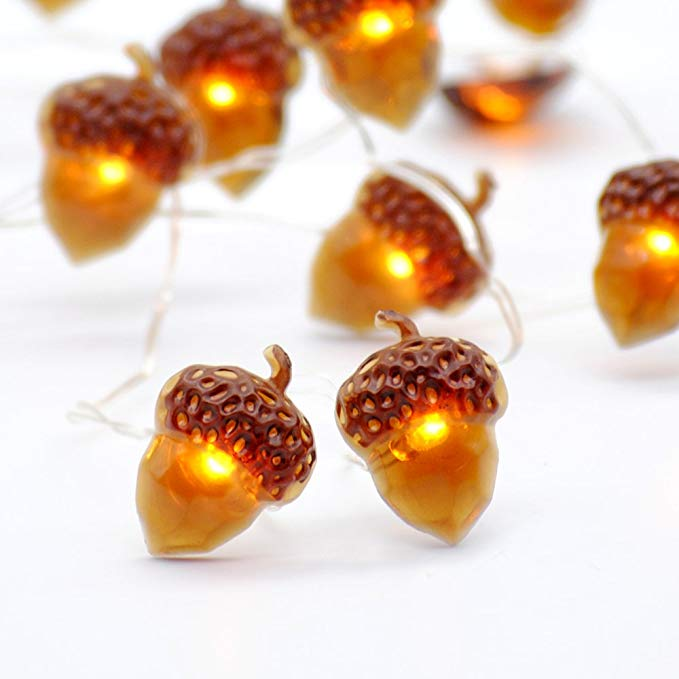 - Acorn String LED lights $15.77These are so cute to add to any table setting. Such a great price and available on Amazon.