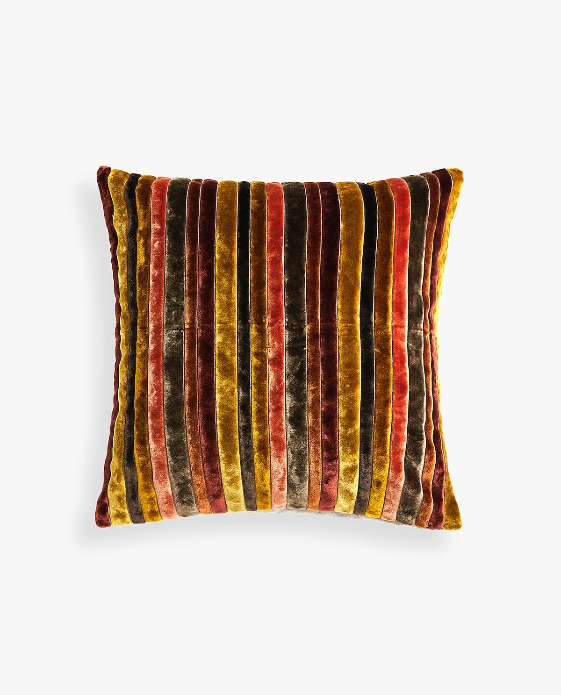 - Stripped Velvet Cushion Cover $49