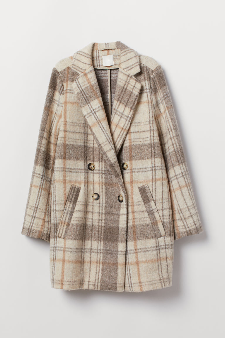 - Double-breasted Coat$59.99