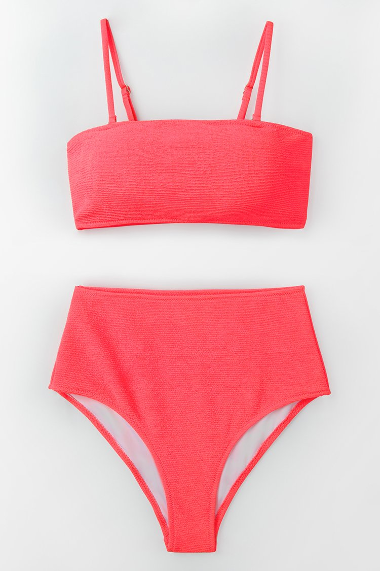 - NEON PINK HIGH-WAISTED BIKINI $29.99