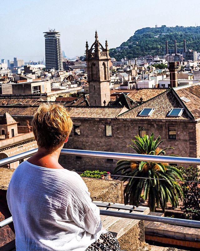 Rooftops of Barcelona. 🌻 #spain #barcelona #travel #explore #travelgram #sun #rooftop #summer #visitbarcelona #portrait